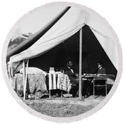 Lincoln & Mcclellan, 1862 Round Beach Towel