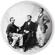 Lincoln & Secretaries, Round Beach Towel