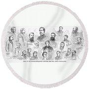 Lincoln Assassins Trial Round Beach Towel