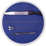 Lincoln Autopsy Instruments, 1856 Round Beach Towel