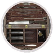 Lincoln Autopsy Kit, 1865 Round Beach Towel