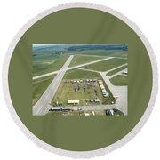 Lincoln Il Airport Round Beach Towel