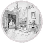 Lincoln: White House Office Round Beach Towel