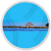 Line Up Round Beach Towel