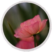 Lines Of Floral  Round Beach Towel