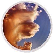 Lion King Cloud Round Beach Towel