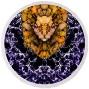 Lion's Roar Round Beach Towel