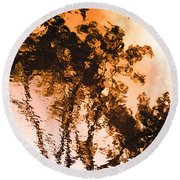 Liquid Tree Round Beach Towel