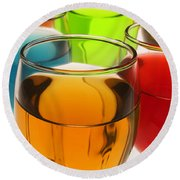 Liquor Glasses Round Beach Towel