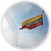 Lithuanian Tricolor Round Beach Towel