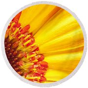 Little Bit Of Sunshine Round Beach Towel
