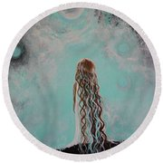 Little Galaxie Three Round Beach Towel