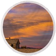 Little House On The Colorado Prairie 2 Round Beach Towel by James BO  Insogna