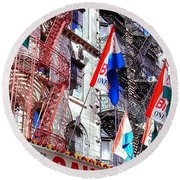 Little Italy In Color Round Beach Towel