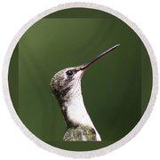 Little Princess - Hummingbird Round Beach Towel