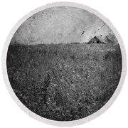 Little Songs And Skies  Round Beach Towel