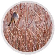 Little Sparrow Round Beach Towel