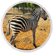 Little Stripes Round Beach Towel
