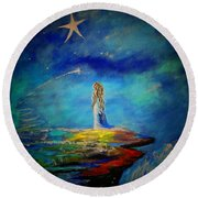 Little Wishes Too Round Beach Towel