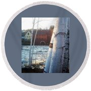 Littleton On The Ammonoosuc Round Beach Towel
