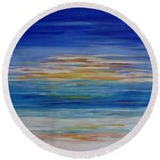 Lively Seascape Round Beach Towel