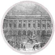 Liverpool Exchange, 1854 Round Beach Towel