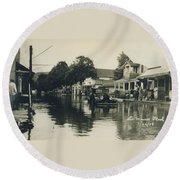 Livingston Manor - 1938 Flood Round Beach Towel