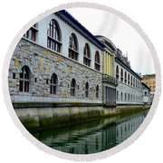 Ljubljana Reflections Round Beach Towel