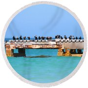Local Hangout Round Beach Towel