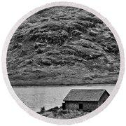 Loch Arklet Boathouse Round Beach Towel