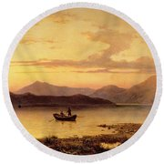 Loch Etive From Bonawe In The Evening Round Beach Towel