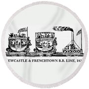 Locomotive, 1833 Round Beach Towel
