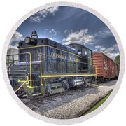 Locomotive II Round Beach Towel