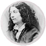Lola Montez (1818-1861) Round Beach Towel