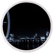 London At Night Round Beach Towel