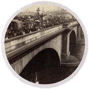 London Bridge - England - C 1896 Round Beach Towel by International  Images