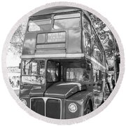 London Bus Round Beach Towel