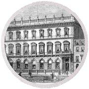 London: Carlton Club, 1868 Round Beach Towel