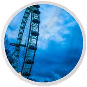 London Eye At Westminster Round Beach Towel