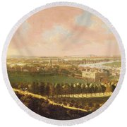 London From Greenwich Hill Round Beach Towel