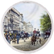 London: Piccadilly, 1895 Round Beach Towel