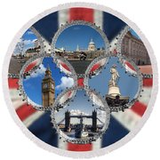 London Scenes Round Beach Towel