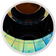 London Southbank Abstract View Round Beach Towel