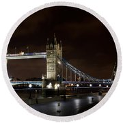 London Southbank View Round Beach Towel