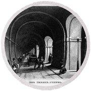 London: Thames Tunnel Round Beach Towel