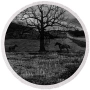 Lonely No More Round Beach Towel