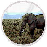 Lonely One Round Beach Towel