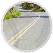 Long And Winding Road Round Beach Towel