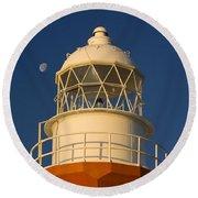 Long Point Lighthouse Round Beach Towel