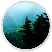 Long Pond Silhouettes Round Beach Towel